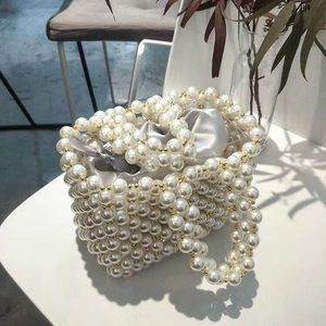 Gold and White Pearl Bag